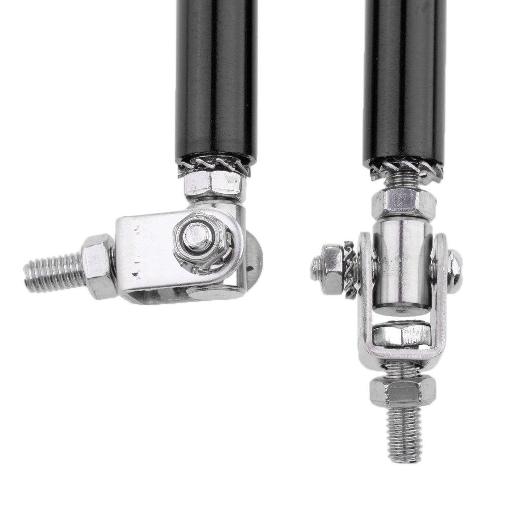 Sharplace 2x Barre Tige Protection L/èvre De Pare-chocs Avant Arri/ère S/écurit/é Voiture Cadre Noir