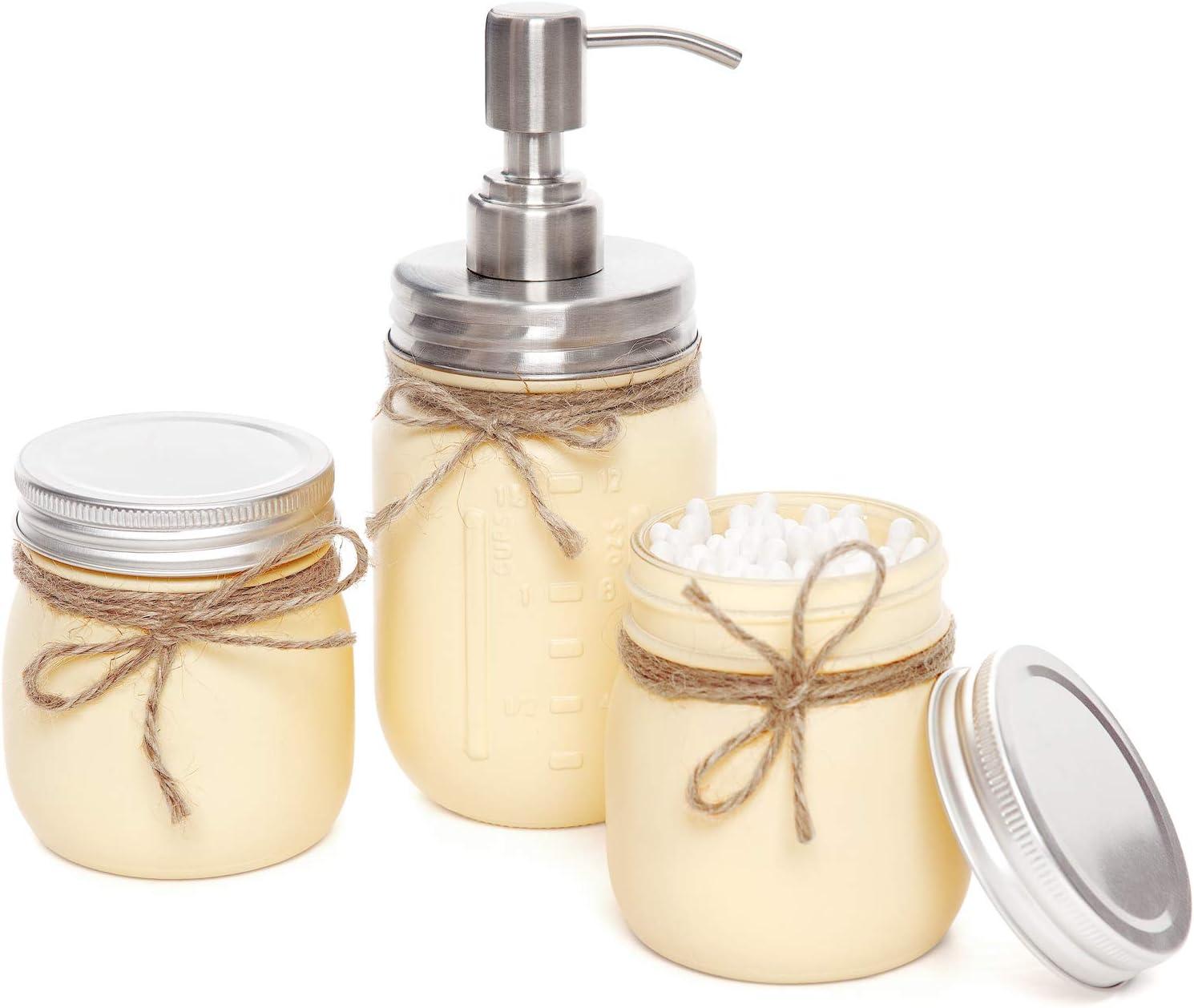 Shabby Chic Rustic Farmhouse Decor Tan Mason Jar Bathroom Vanity