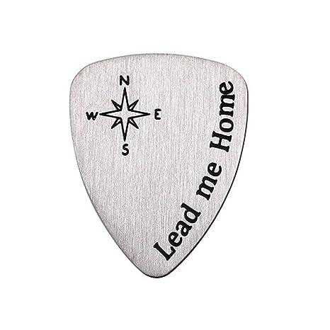 Rocita Púas Guitarra de metal titanio,Plectro de Guitarra eléctrica y bajo banjos metal de
