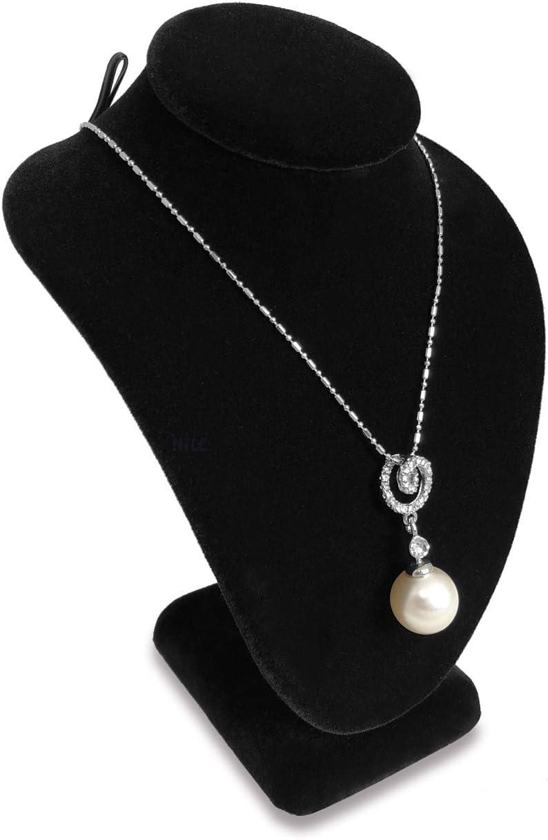 Necklace Chain Bracelet Display Stand Black Velvet