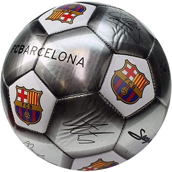 FCB FC Barcelona - Pelota pequeña con firmas (Talla Única) (Plata ...