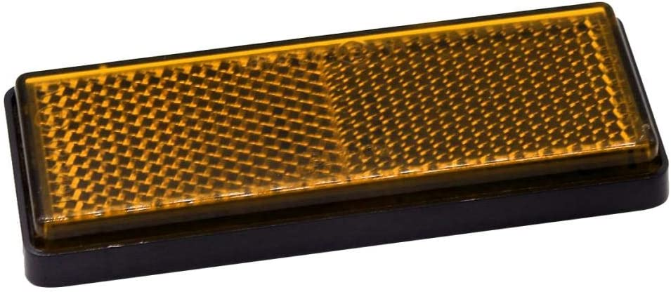 10pcs Rectangular Stick On Reflective Reflector for Motorcycles Motor ATV Bikes Car Truck Trailer