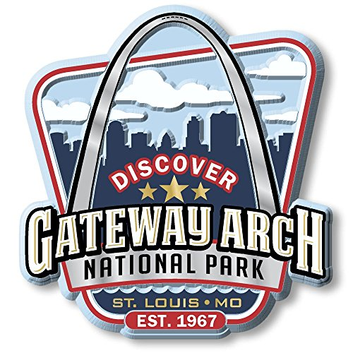 Discover Gateway Arch National Park Magnet ()