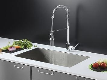 Ruvati Rvc2606 Kitchen Sink And Chrome Faucet Set 32 X 19