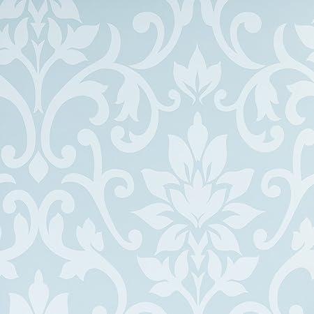 Graham And Brown Flat Floral Patterned Damask Design Kitchen Living Room Wallpaper Roll Teal