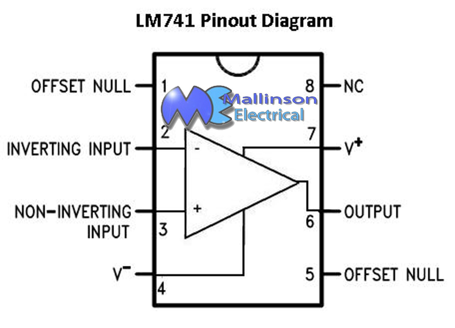 Lm741 Op Amp 8 Pin Dil Ic Computers Accessories Circuit