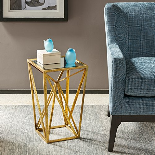 Madison Park Angular Mirror Accent Table, Gold