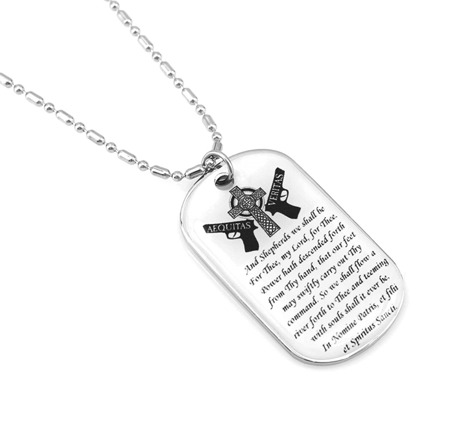 protect pendant saints pin necklace silver saint st us sterling christopher