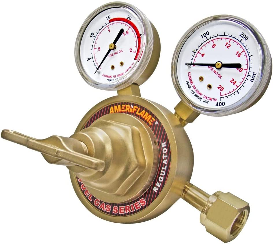 Ameriflame R460-300 Ultra Heavy Duty Single Stage Acetylene Regulator with CGA300 Inlet