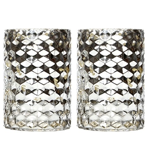 Hosley's Set of 2 Mercury Glass Candle Holders - 7