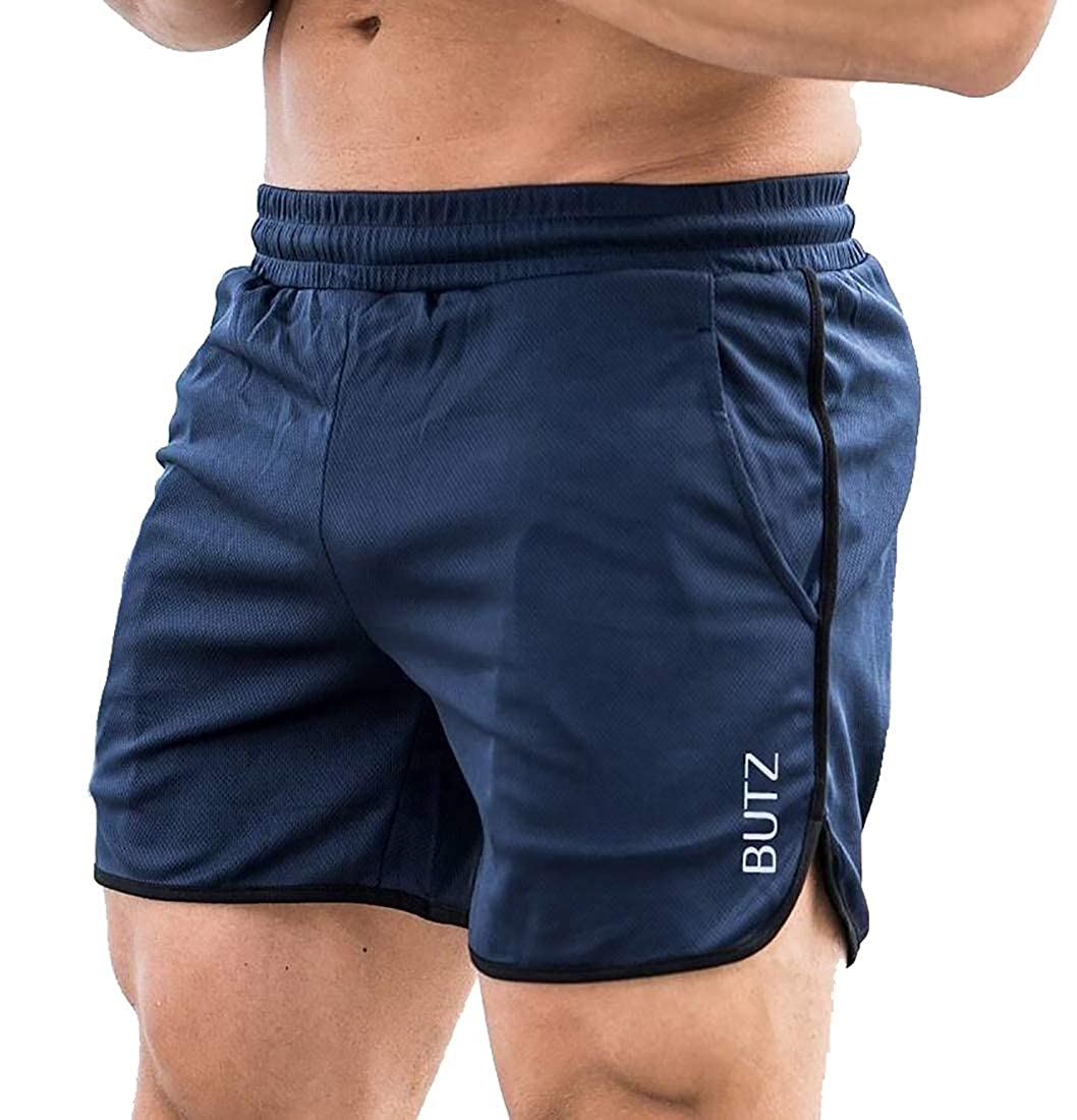 ouxiuli Mens Fitted Workout Shorts Bodybuilding Sporting Jogger Short Pants