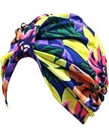 Multicolor Floral Print Turban Head Wrap For Women