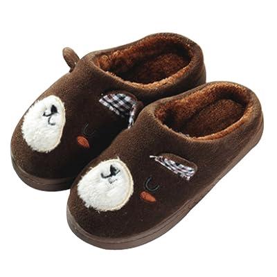 Cattior Little Kid Cute Warm Kids Slippers Fluffy Slippers