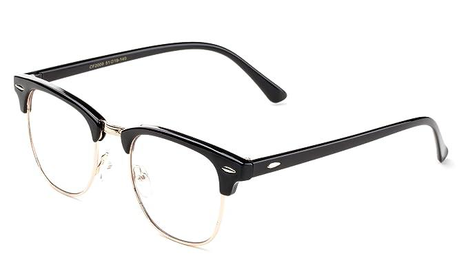 edb3e663321  quot Fairy quot  Vintage Inspired Classic Half Frame Horn Rimmed Clear  Lens Glasses