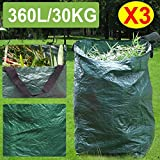 go2buy Garden Waste Bag With Large Capacity Reusable Gardening Bags for leaves 3Pcs X 90Gallon