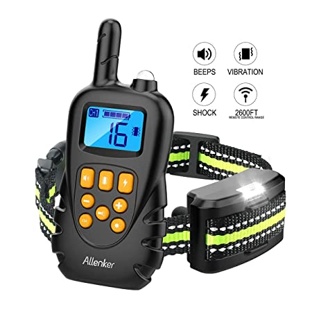 Dog Training Collar – Rechargeable Dog shock Collar With Remote W 3 training modes Beep Vibration Static Shock – 0 16 Vibration Shock Levels – 2600Ft Remote Range 100 Waterproof Training Collar