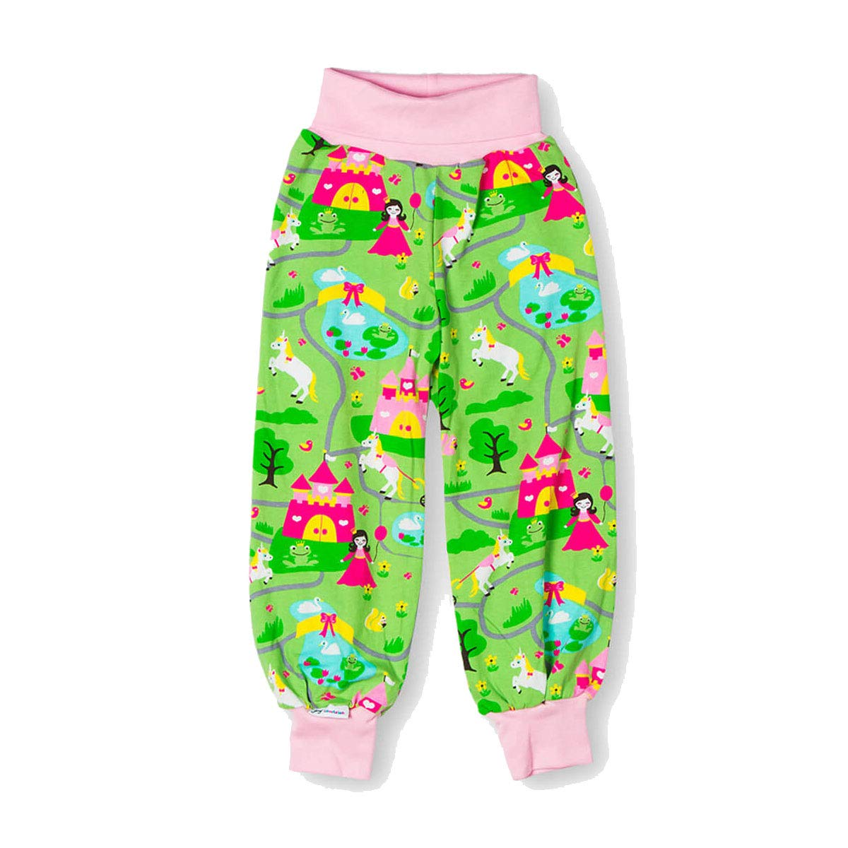 JNY Colourful Kids Princess Castle Baby Girls Crawling Trousers in Green