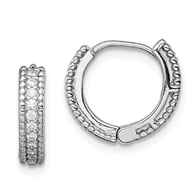 0476bb9ae05aa Amazon.com: Jewelry Childrens Earrings Sterling Silver Rhodium ...