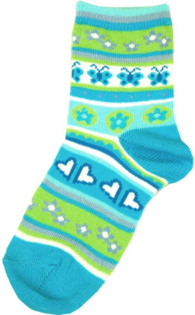 1-2 years Country Kids Turquoise Fluttery Sock Size 5-6 Baby Girls