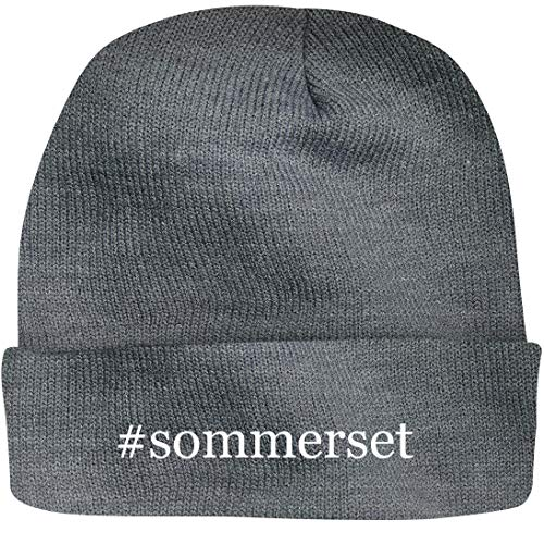 Shirt Me Up #Sommerset - A Nice Hashtag Beanie Cap, Grey, OSFA