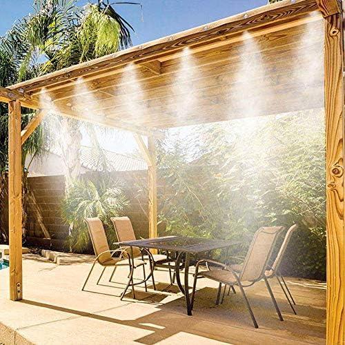 Shop-STORY - Kit de pulverización para exteriores, estilo Miracle Mist, vaporización, refrigeración y sistema de riego: Amazon.es: Bricolaje y herramientas