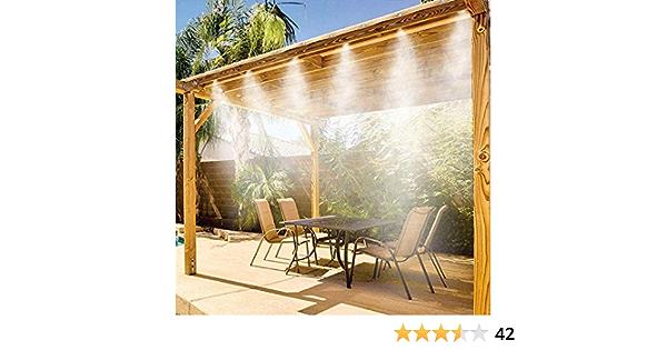 Shop-STORY - Kit de pulverización para exteriores, estilo Miracle Mist, vaporización, refrigeración y sistema de riego