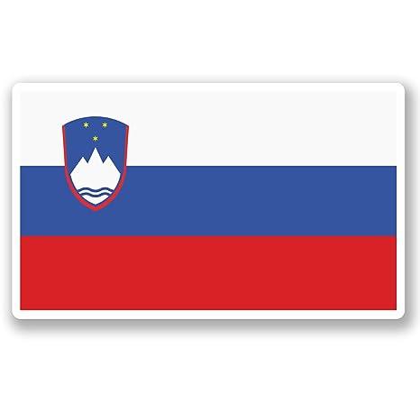 2 x 10 cm) vinilo diseño bandera Eslovenia iPad coche para ordenador portátil viaje equipaje