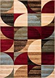 "Cheap Well Woven Mid Century Modern Multicolor Geometric Modern Area Rug 3×5 4×6 (3'11"" x 5'3″) Easy to Clean StainShed Free Abstract Contemporary Color Block Boxes Soft Living Dining Room Rug"