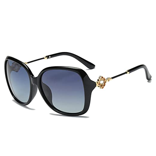 1ffe72c84c Polarized Sunglasses Women Luxury Rhinestone Ladies Glasses Shade Black  With Case 6557