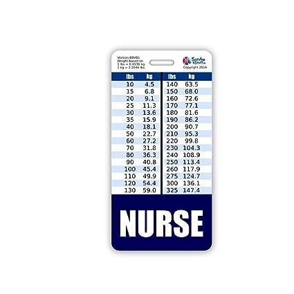 Amazon Nurse Badge Buddy Vertical W Height Weight