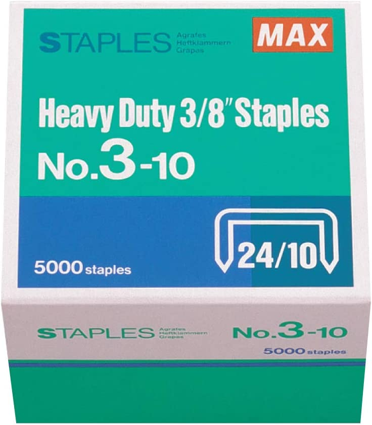 MAX 3/8-Inch Staples for HD-3DF Stapler (5,000 Staples per Box) (3-10)