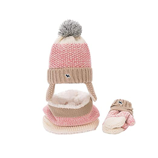 Baby Mittens Baby Hats Baby Boys Girls Winter Warm Knit Hat+Scarf+Gloves 3 7f82a974de7c