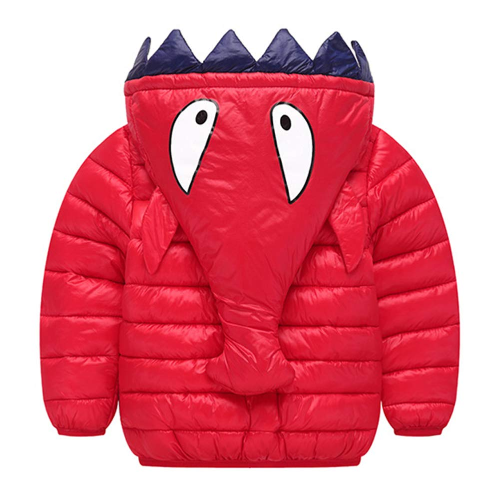 Happy Cherry Toddler Winter Down Coat Cute Hood Cotton Puffer Jacket Lightweight Windproof Outcoat for 1-7 Years