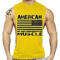 Fansu Camiseta de Tirantes para Hombres, Cómodo Transpirables