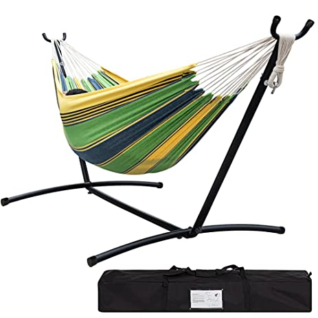 lazy daze hammocks double hammock with space saving steel stand includes portable carrying case 450 amazon     lazy daze hammocks double hammock with space saving      rh   amazon