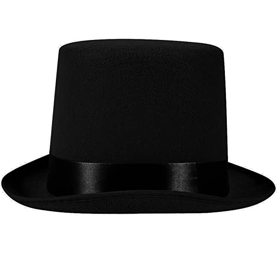 Amazon.com  5 Inch Black Felt Top Hat - Gentleman s Felt 5 Inch Top Hat by  Funny Party Hats 3f18bf4aabb6