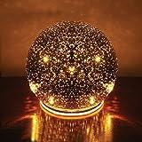 NEW 5'' diameter Lighted Mercury Glass Sphere Gazing Ball Cordless