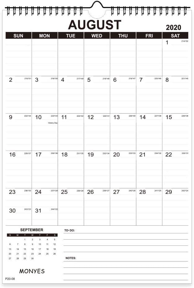 Monyes 2020 - 2021 Wall Calendar, 17