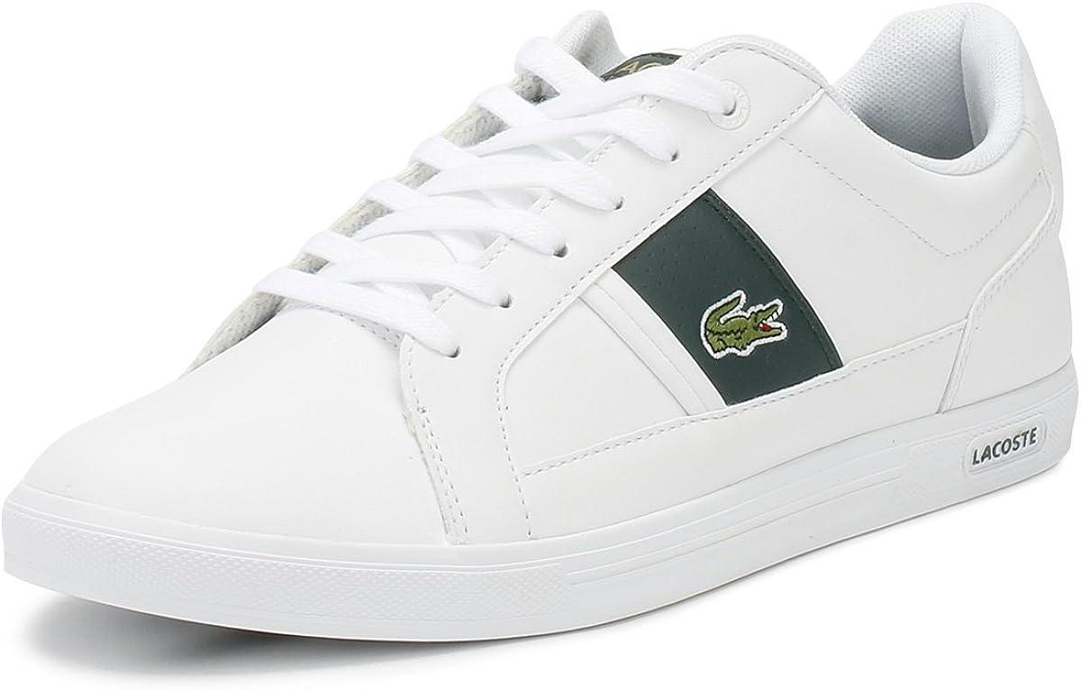 Lacoste Mens White/Dark Green Europa