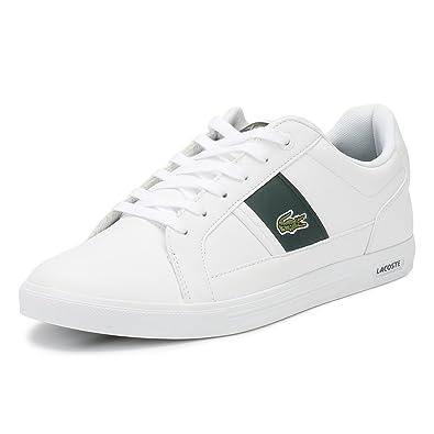 5f6a50202d Lacoste Hommes Blanc/Dark Vert Europa 118 1 Basket-UK 11: Amazon.fr ...