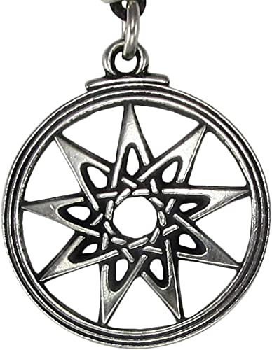 Pewter Pagan Ninefold Goddess Pendant Necklace