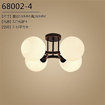 ANGEELEE Plafonnier fer américain lampes minimaliste idyllique, continental livres pour enfants chambre à coucher principale salle de séjour Restaurant Nordic lights53*26cm