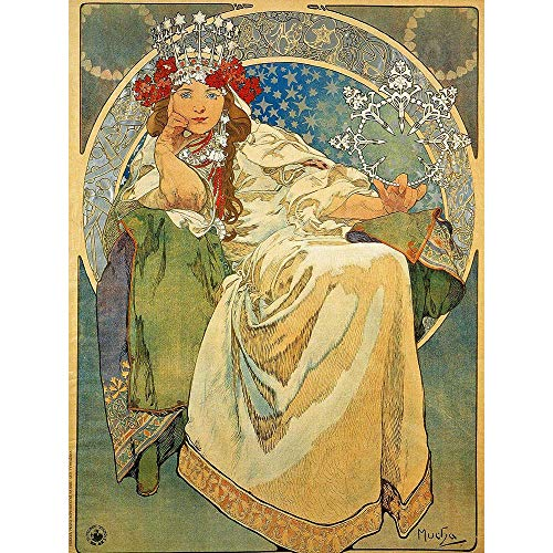 Wee Blue Coo Alphonse Mucha Princess Hyacinth 1911 Old Master Painting Unframed Wall Art Print Poster Home Decor Premium