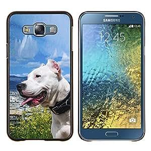 """Be-Star Único Patrón Plástico Duro Fundas Cover Cubre Hard Case Cover Para Samsung Galaxy E7 / SM-E700 ( Soleado Sea Dog Océano Pit-Bull Terrier mascotas"""" )"""