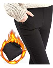 Warm, Fleece-Lined Women's Trousers Leggings with high Waist Stretch Winter