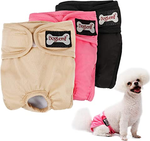 Puppies Dog Nappy Washable Durable Dog Diapers Nappies for both Male and Female Pets Dogs
