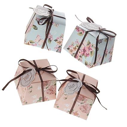 Homyl Pack de 100 Cajas de Regalo de Flores para Dulces de ...