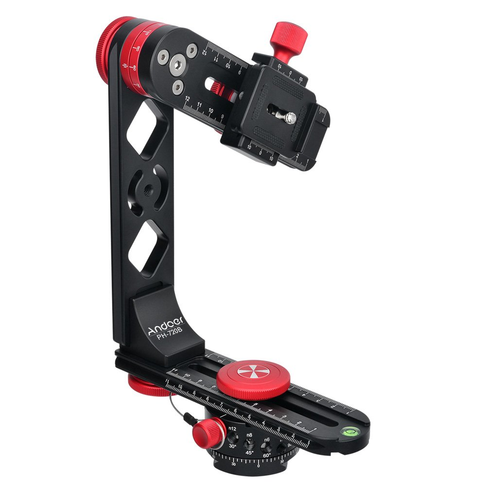 Andoer PH-720B 720° Gimbal Head Panoramic Head Aluminium Alloy with Ball Head Quick Release Plate Carry Bag Max Load 22lbs for Nikon Canon Sony DSLR Camera by Andoer