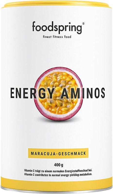 foodspring Energy Aminos, 400g, Sabor Fruta de la Pasión ...