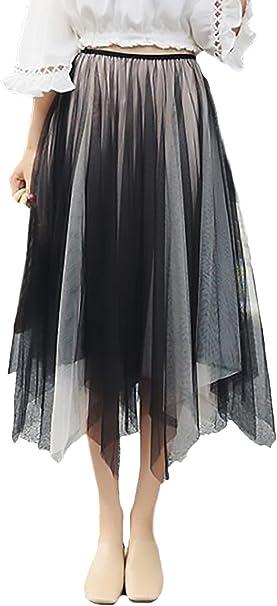 Falda Tul Mujer Elegantes Dulce Bonita Irregular Cintura Regalos ...